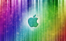 Preview wallpaper Apple colorful vertical stripes