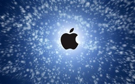 Apple no céu azul