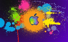 Preview wallpaper Apple paint colorful