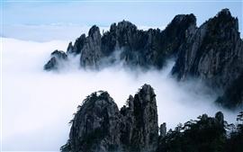 Beleza das montanhas como um país das fadas