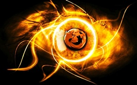 Preview wallpaper Burning Firefox
