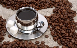 Preview wallpaper Coffee and coffee beans