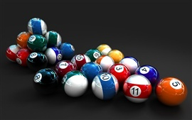 Preview wallpaper Colorful 3D Billiards