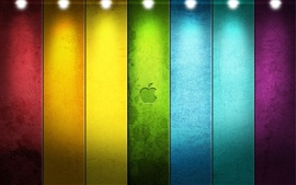 Preview wallpaper Colorful Apple under the spotlight