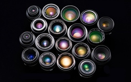 Colorful combination of camera lens