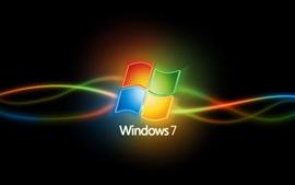 壁紙のプレビュー カラフルな曲線Windows7の