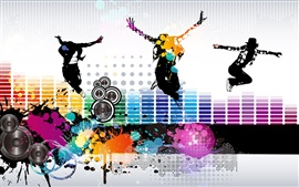 Preview wallpaper Colorful music fly vector