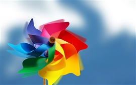Preview wallpaper Colorful paper windmill