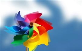 Aperçu fond d'écran Moulin à vent en papier coloré
