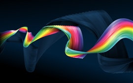 Preview wallpaper Colorful ribbons Abstract