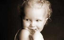 Aperçu fond d'écran Sourire mignonne de fille