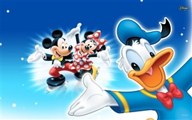 Mickey and Donald Duck in the Ice