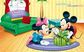 Mickey and Minnie and pets