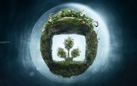 Preview wallpaper New life of green plants