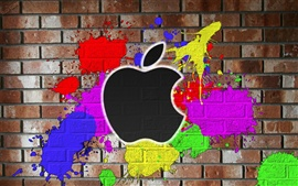 Pintada en la pared del color de Apple