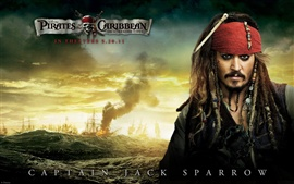 Preview wallpaper Pirates of the Caribbean 4 Captain Jack Sparrow