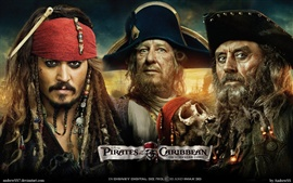 Preview wallpaper Pirates of the Caribbean 4 Three pirates