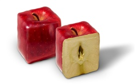 Rectangular red apple