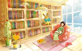 Preview wallpaper Rest of the girls in the study