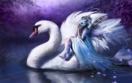 Preview wallpaper The girl who sat in the White Swan