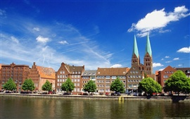 Preview wallpaper The river of Luebeck in Germany