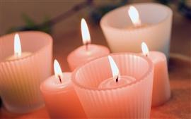 Rojo caliente luz de las velas