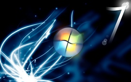 Preview wallpaper Windows7 blue sparks