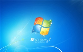 Windows7 tema logo fundo azul