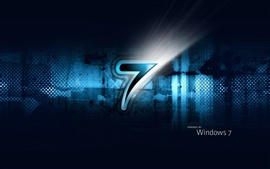 Windows7 three dimensional blue black