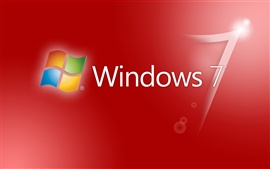 Preview wallpaper Windwos7 red background
