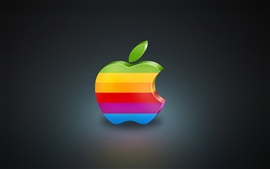 Preview wallpaper 3D Colorful Apple