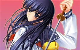 Preview wallpaper Anime girl holding a sword