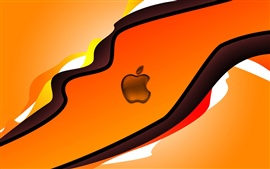 Preview wallpaper Apple orange background