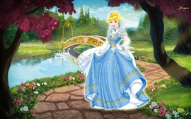 Preview wallpaper Cinderella in the garden
