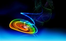 Círculo abstracto de colores