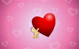 Preview wallpaper Cute Hug Love Heart