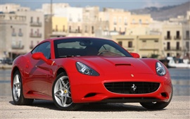 Preview wallpaper Ferrari red car