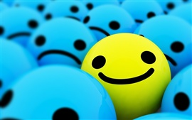 Preview wallpaper Happy smiling faces 3D