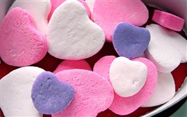 Love heart-shaped candy
