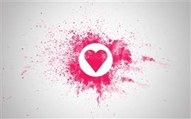 Aperçu fond d'écran L'amour en forme de coeur rouge