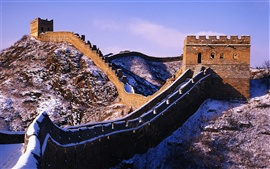 Preview wallpaper Snow on the Great Wall