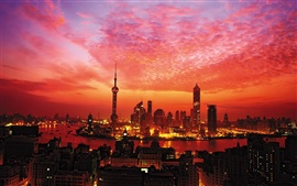 Preview wallpaper Sunset in Shanghai