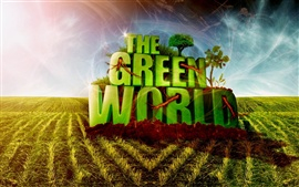 Preview wallpaper The green world
