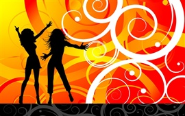 Preview wallpaper Vector dance girls