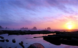 Preview wallpaper Washington coast at dusk