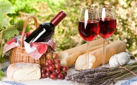 Preview wallpaper Wine and Food