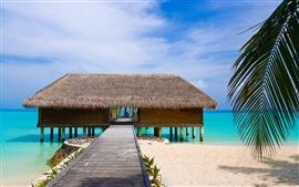 壁紙のプレビュー 木製のビーチハウス
