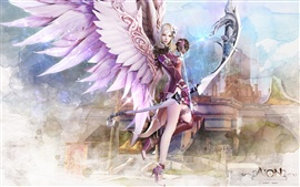 Preview wallpaper Aion girl wings