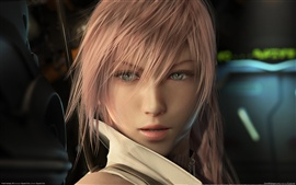 Beautiful girl in Final Fantasy 13