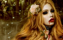 Preview wallpaper Beautiful vampire girl